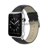 Genuine Leather Wrist Strap For Apple Watch Band Series 6 5 3 44mm 42mm 40m 38mm