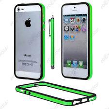 Housse Coque Etui Bumper Vert / Noir Apple iPhone SE 5S 5 + Stylet