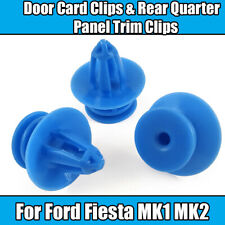 50x Clips For Ford MK1 MK2 Fiesta Door Card Rear Quarter Panel Trim Blue Plastic