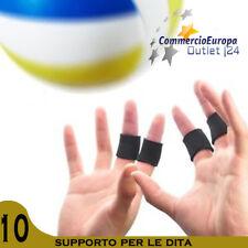 10 PEZZI SUPPORTO DITA DITO FINGER SUPPORT SPORT WOLLEY BASKET TUTORE MANO STOCK
