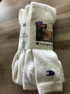 3 Pairs Champion Mens Tube Socks Vintage Nos! Retro Large 90s 80s Over The Calf