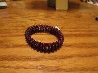 Artisan Crafted NEW Orissa Garnet Stretch Bracelet