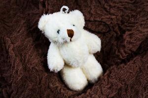 Teddy Schlüsselanhänger Bär Teddybär Taschenanhänger 8cm Beige Anhänger Süß Tier