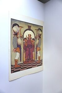 Vintage Maxfield Parrish Book Plate Print King w Glasses Symmetrical Guards