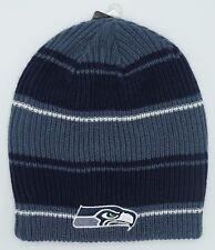 52c83627979 NFL Seattle Seahawks Reebok Adult Reversible Winter Knit Cap Hat Beanie NEW!
