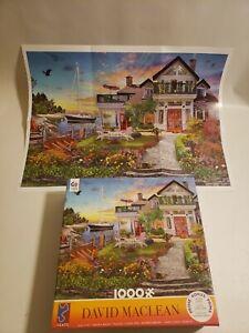 "Ceaco David Maclean ""Coastal Escape"" 1000 Piece Jigsaw Puzzle W/Solving Poster"