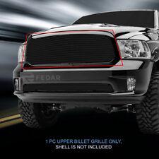 Fits 2013-2017 Dodge Ram 1500 Black Billet Grille Upper Grill Insert Fedar