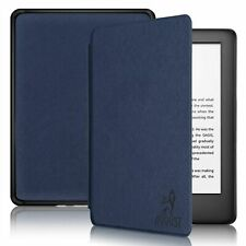 August Genuine Thin Case Cover For Amazon Kindle with Light in Dark Blu