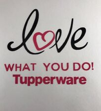 """New Tupperware Love What You Do Decal 3""""x3"""""""