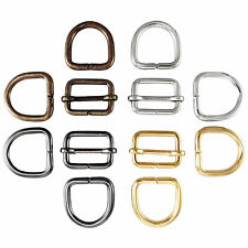 Bag strap slider adjuster and D rings set  20 25 35 mm multi colours available