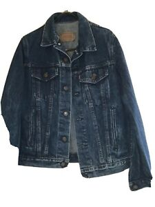 LEVIS LADIES DENIM JACKET Small Fitted Style  £££