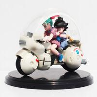 8cm Dragon Ball Z Son Goku Bulma Motorcycle PVC Action Figure Toy Retail Box