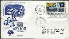 SPACE FDC - FIRST MAN ON THE MOON - APOLLO 11 CACHET!
