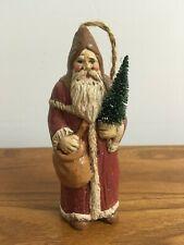Christmas Folk Art Santa Claus Ornament