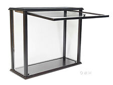 "Table Top Display Case 36"" Opening Front Wood Medium Tall Ship Sailboat Models"