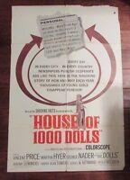 1967 HOUSE OF 1000 DOLLS Original Movie Poster 1-SH 27x40 G/VG