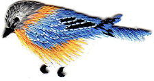 BLUE BIRD w/ORANGE BREAST - BIRDS -  Iron On  Embroidered Applique Patch
