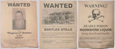 Set of 3 11x14 B/W Moonshine Wanted Posters Popcorn Sutton, Bootleg Stills, more