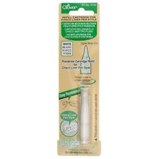 CLOVER CHACO LINER PEN STYLE REFILL CARTRIDGE  - WHITE - SEWING - CL4722