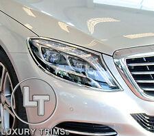 Mercedes S Class W222 Chrome Headlight Trim Bezels by Luxury Trims 2014-2017