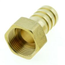 """19mm Hose Barb Tail To 3/4"""" BSP Female Thread Straight Brass Connector Fitting"""