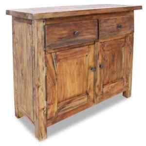 vidaXL Sideboard Solid Reclaimed Wood 1 door 2 shelves Brown Side Cabinet