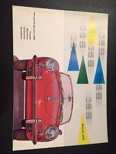 PORSCHE 356b MARZO 1961 UK SALES BROCHURE (ORIGINALE, NON RIPRODUZIONE)