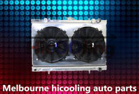 2 Rows 42mm Aluminum radiator + Shroud + Fan for Skyline R32 GTST RB20DET manual
