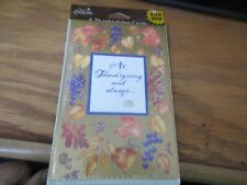 """At Thanksgiving and Always"" 6 cards & envelopes Package Sealed NIP Gibson"