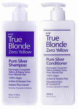 HI LIFT TRUE BLONDE ZERO YELLOW PURE SILVER SHAMPOO 350ML AND CONDITIONER 350ML