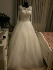 Wedding Dress Size 10 Brand New Ivory Colour Italian beaded lace and tafta