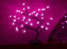 Cherry Blossom Tree Lighting Xmas Decor Pink Light Lamp LED Lights Clear Flower