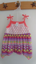 SWIGGLES Baby Girl 2 Piece Baby Doll Sharkbite Hem Shorts Tribal Coral 18 MOS