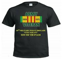 "18TH MILITARY BRIGADE ""EVER VIGILANT"" ARMY VIETNAM CAMPAIGN & VINYL SHIRT/SWEAT"
