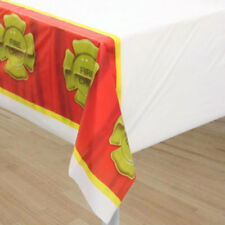 Firefighter Party Table Cover (1) - Birthday Party Supplies