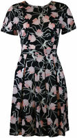 NEW EX DOROTHY PERKINS BLACK PINK VINTAGE STYLE TEA DRESS  8 10 12 14 16 18 20