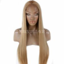 "AU 24"" Dark Blonde Fashion Synthetic Hair Straight GlueLess Lace Front Wig"