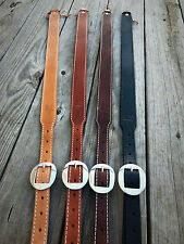Leather Strap Gun Sling with Swivels -Made in USA-