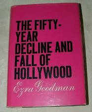 1961 The Fifty Year Decline and Fall of Hollywood by Ezra Goodman Gossip Marilyn