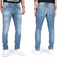 Diesel Mens Slim Tapered Fit Light Blue Stretch Denim Jeans | Tepphar 0842H