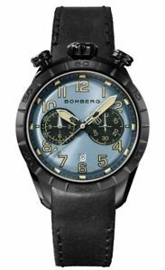 Bomberg Men's NS44CHPBA-208-9 BB-68 Racer 44mm Blue and Black Dial Watch  NEW