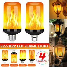 4 Modes Burning Fire Effect E27 B22 5W LED Flame Light Bulb Gravity Sensor