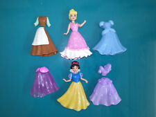 18.7.1.5 Lot 2 Figurines Princesse Cendrillon Blanche neige polly disney  Mattel