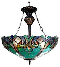 Tiffany Style Light Fixture Dining Lamp Stained Glass Ceiling Victorian Mission