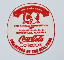 COCA COLA COKE USA COLLECTORS 1977 STAFFA rappezzi ricamate patch EMBLEMS