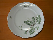 Mitterteich Bavaria Germany GREEN LEAVES Set of 3 Dinner Plates 10 1/2