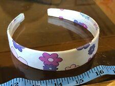 Floral Purple Wrap White Cute Hair Head Band Alice