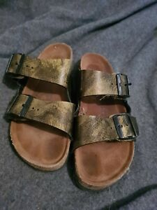 birkenstock golden sandals 6M