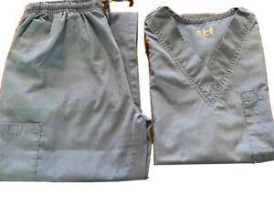 BH BEVERLY HILLS Uniforms scrubs Set Medium Ceil Blue