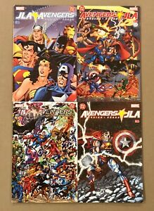 JLA Avengers # 1 2 3 & 4 Full Complete GN / RPB Set Series Perez Busiek Glossy